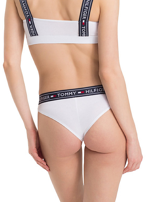 TOMMY HILFIGER Logo Waistband Brazilian Knickers - WHITE - TOMMY HILFIGER Briefs - detail image 1
