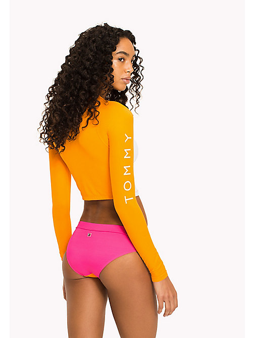 TOMMY HILFIGER Cropped UV Protection Rashguard - BRIGHT MARIGOLD - PINK GLO - TOMMY HILFIGER VACATION FOR HER - detail image 1