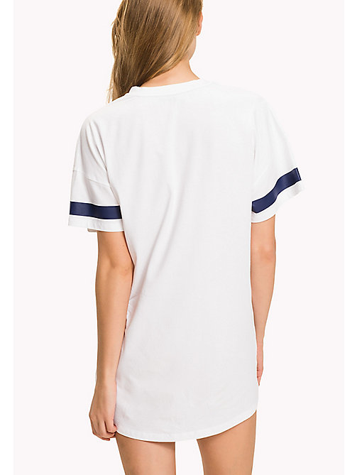 TOMMY HILFIGER Cotton Jersey Print Night Dress - WHITE - TOMMY HILFIGER Night Dresses & Bathrobes - detail image 1