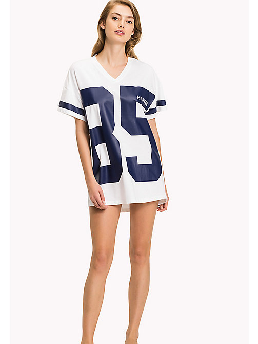 TOMMY HILFIGER Cotton Jersey Print Night Dress - WHITE - TOMMY HILFIGER Night Dresses & Bathrobes - main image