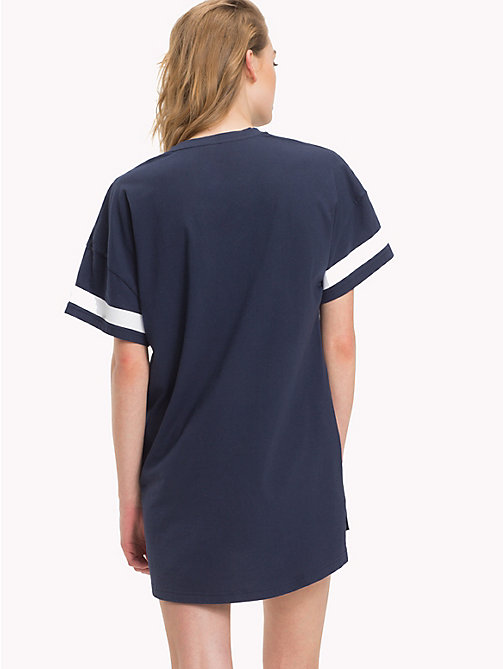 TOMMY HILFIGER College T-Shirt Nightdress - NAVY BLAZER/WHITE - TOMMY HILFIGER Night Dresses & Bathrobes - detail image 1