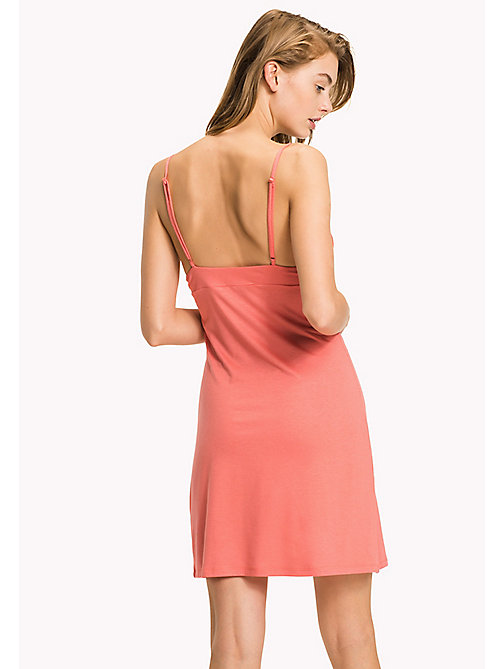 TOMMY HILFIGER Lace Panel Slip Dress - SPICED CORAL - TOMMY HILFIGER Night Dresses & Bathrobes - detail image 1