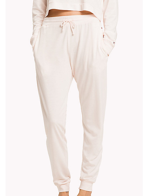 TOMMY HILFIGER Drawstring Lounge Trousers - ANGEL WING - TOMMY HILFIGER Bottoms - main image