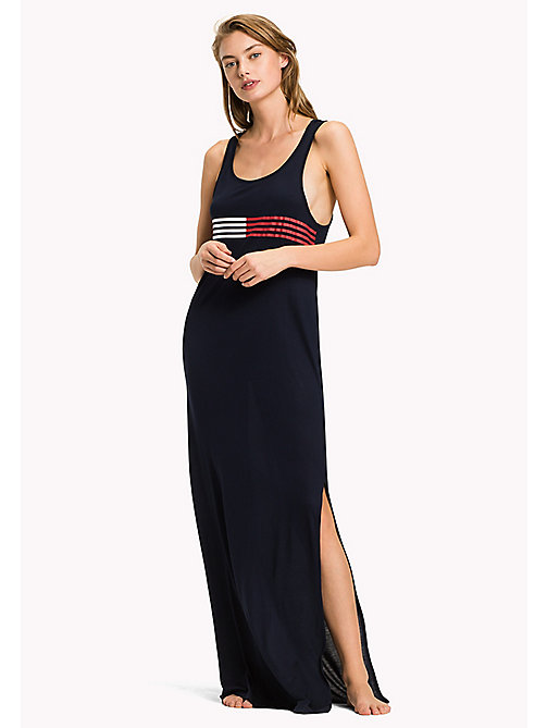 TOMMY HILFIGER Signature Stripe Tank Beach Dress - NAVY BLAZER - TOMMY HILFIGER VACATION FOR HER - main image
