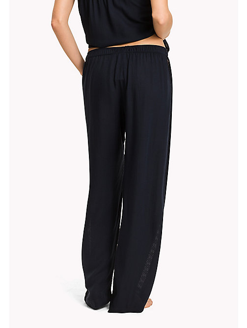 TOMMY HILFIGER Lace Detail Lounge Trousers - NAVY BLAZER - TOMMY HILFIGER Women - detail image 1