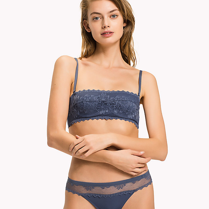 TOMMY HILFIGER Floral Lace Bandeau Bra - AMERICAN BEAUTY - TOMMY HILFIGER Clothing - main image