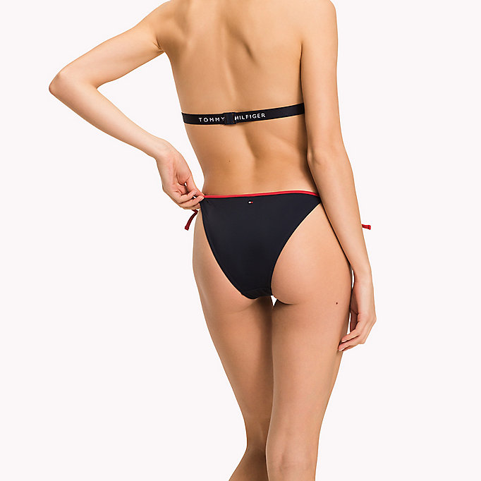 TOMMY HILFIGER String Side Tie Bikini Bottoms - BRIGHT WHITE - TOMMY HILFIGER Women - detail image 1