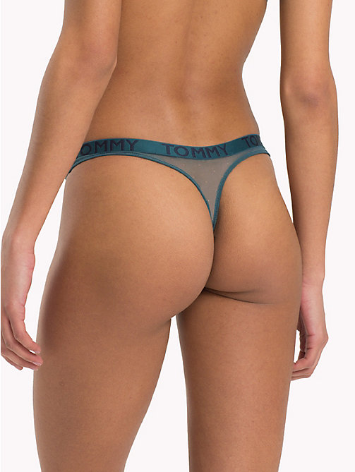 TOMMY HILFIGER Stretch Lace Thong - ATLANTIC DEEP - TOMMY HILFIGER Lounge & Lingerie - detail image 1