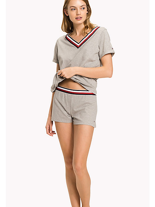 TOMMY HILFIGER Organic Cotton Shorts - GREY HEATHER - TOMMY HILFIGER Tommy Days Women - main image
