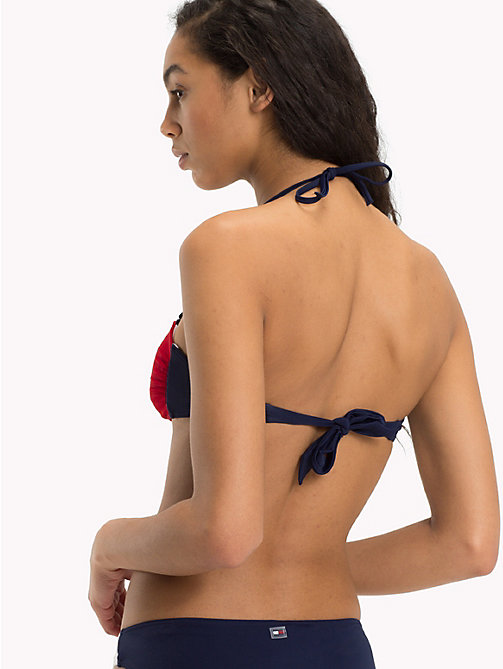 TOMMY HILFIGER Flag Bandeau Bikini Top - NAVY BLAZER - TANGO RED - TOMMY HILFIGER Clothing - detail image 1