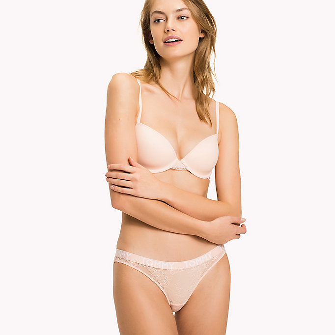 TOMMY HILFIGER Lace Detail T-Shirt Bra - TEABERRY - TOMMY HILFIGER Women - detail image 2