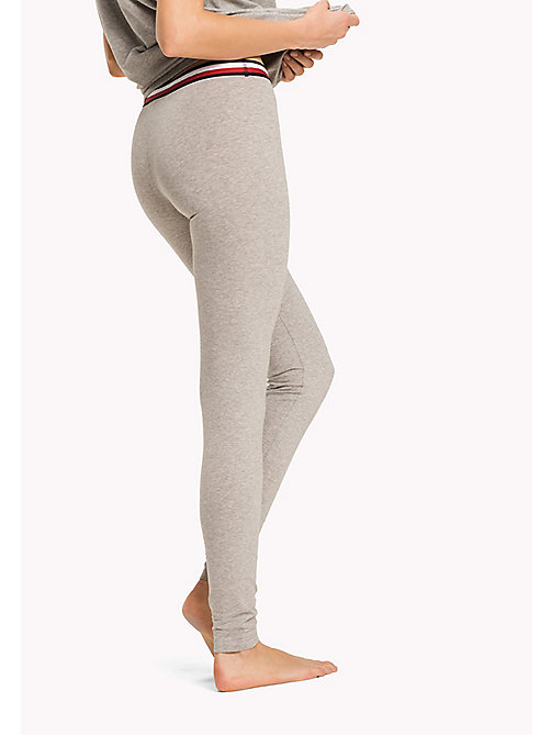 TOMMY HILFIGER Legging en coton bio - GREY HEATHER/GREY HEATHER - TOMMY HILFIGER Bas de pyjamas - image détaillée 1
