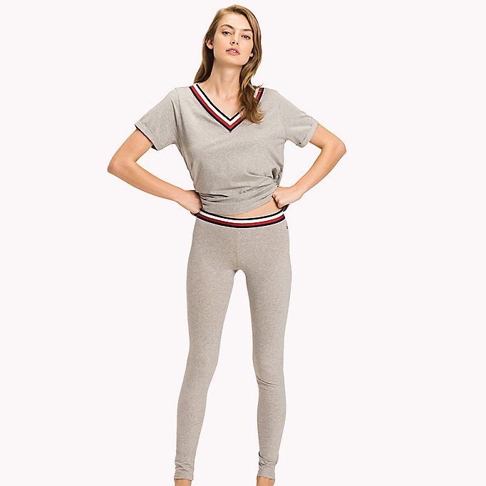 TOMMY HILFIGER Organic Cotton Leggings - NAVY BLAZER? 19-3923 - TOMMY HILFIGER Women - main image