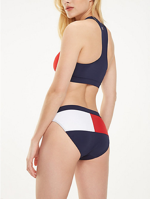 TOMMY HILFIGER Flag Tag Bikini Bottoms - NAVY BLAZER - TANGO RED - TOMMY HILFIGER Underwear & Swimwear - main image