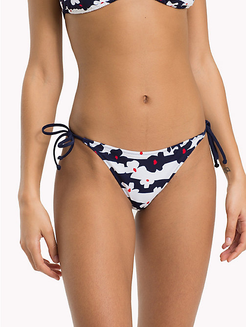 TOMMY HILFIGER Side Tie Floral Bikini Bottoms - FLOWER PRINT NAVY BLAZER - TOMMY HILFIGER Clothing - main image
