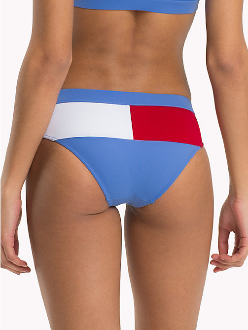 TOMMY HILFIGER Flag Tag Hipster Bikini Bottoms - ULTRAMARINE BLUE - TANGO RED - TOMMY HILFIGER Clothing - detail image 1