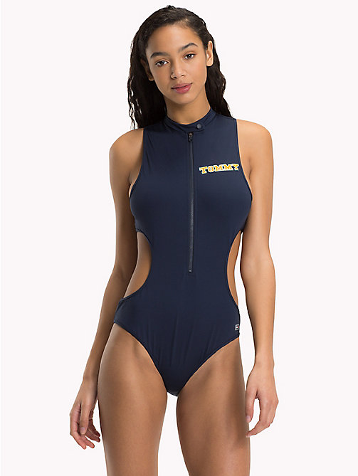 TOMMY HILFIGER Logo One-Piece Swimsuit - NAVY BLAZER - TOMMY HILFIGER Swimsuits - main image