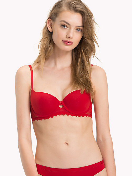 TOMMY HILFIGER Lacy Balconette Bra - POMPEIAN RED - TOMMY HILFIGER Lounge & Lingerie - main image