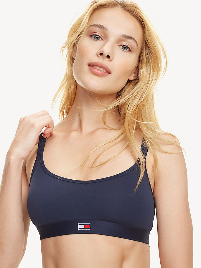 blue flag band bralette for women tommy hilfiger