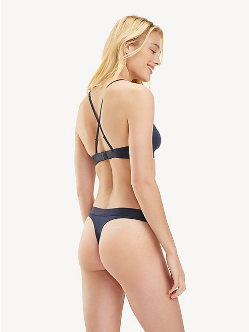 TOMMY HILFIGER Cross-Back Triangle Bra - NAVY BLAZER - TOMMY HILFIGER Bras - detail image 1