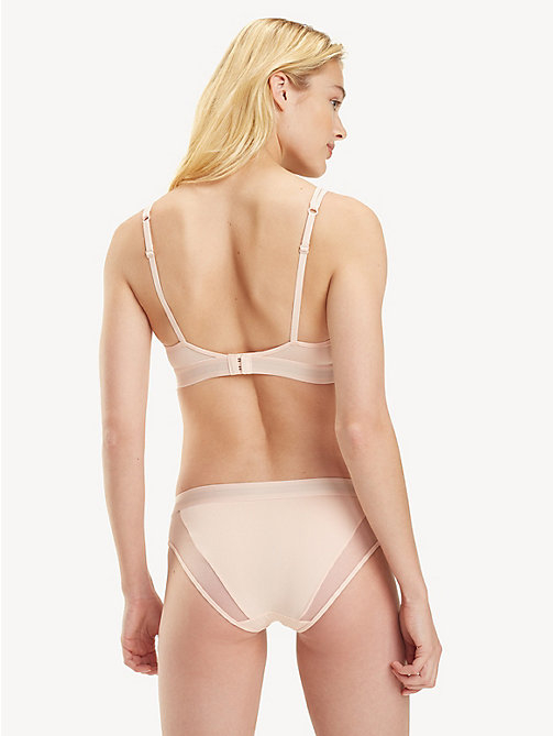 TOMMY HILFIGER Mesh Panel Padded Triangle Bra - PALE BLUSH - TOMMY HILFIGER Lounge & Lingerie - detail image 1