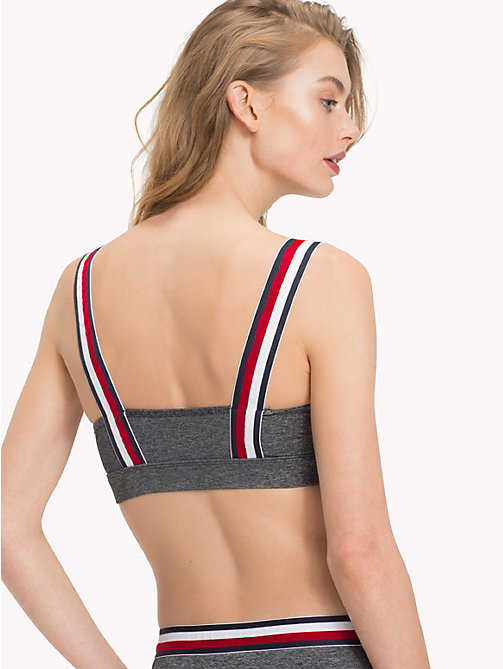 TOMMY HILFIGER Colour-Blocked Bralette - DARK GREY HTR - TOMMY HILFIGER Bras - detail image 1
