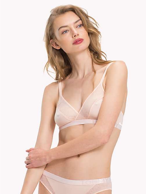 TOMMY HILFIGER Triangle Lace Bra - PALE PINK - TOMMY HILFIGER Lounge & Lingerie - main image