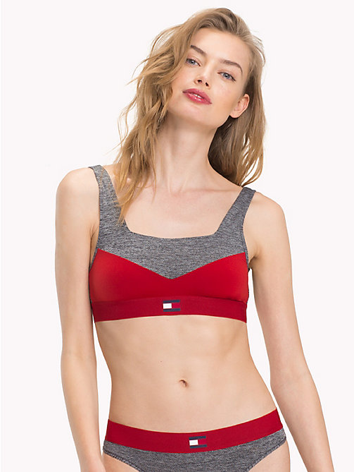 TOMMY HILFIGER Colour-Blocked Bralette - POMPEIAN RED - TOMMY HILFIGER Bras - main image