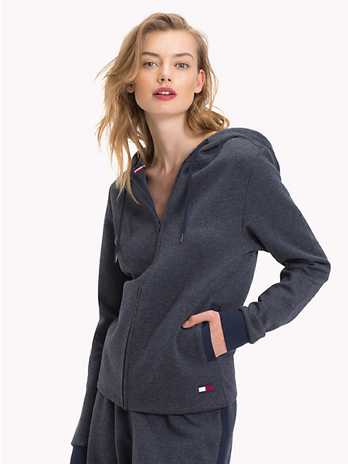 TOMMY HILFIGER Hoodie met rits - NAVY BLAZER - TOMMY HILFIGER Pyamatops - main image