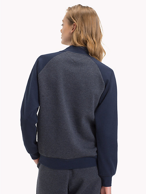 TOMMY HILFIGER Turtle Neck Track Top - NAVY BLAZER - TOMMY HILFIGER Tops - detail image 1
