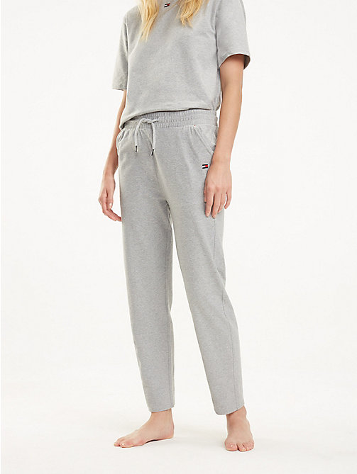 TOMMY HILFIGER Draw String Jersey Joggers - GREY HEATHER - TOMMY HILFIGER Bottoms - main image