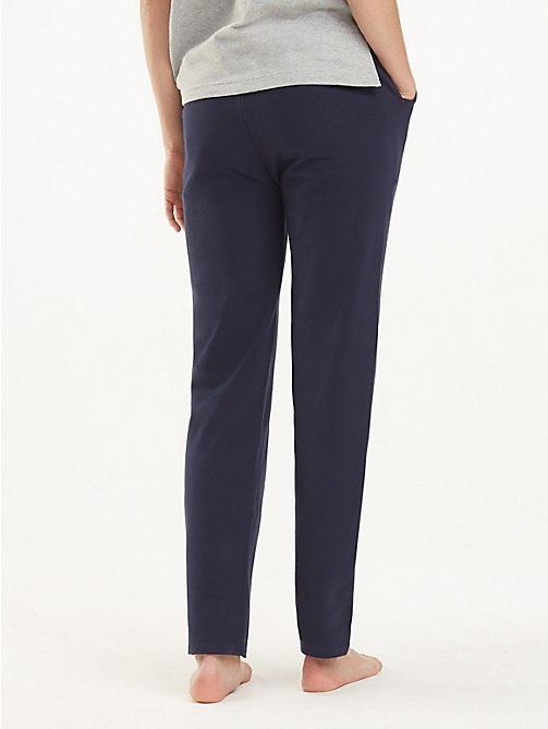 TOMMY HILFIGER Draw String Jersey Joggers - NAVY BLAZER - TOMMY HILFIGER Bottoms - detail image 1