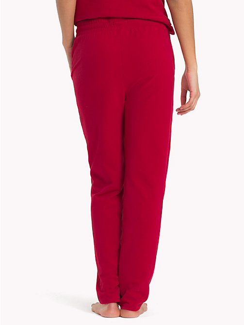TOMMY HILFIGER Draw String Jersey Joggers - CHILI PEPPER - TOMMY HILFIGER Lounge & Lingerie - detail image 1