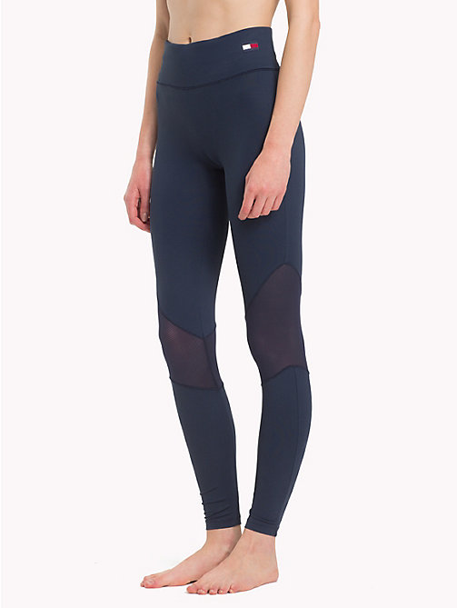 TOMMY HILFIGER Mesh Panel Leggings - NAVY BLAZER - TOMMY HILFIGER Bottoms - main image