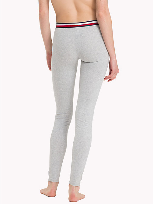 TOMMY HILFIGER Logo Waistband Leggings - GREY HEATHER - TOMMY HILFIGER Bottoms - detail image 1