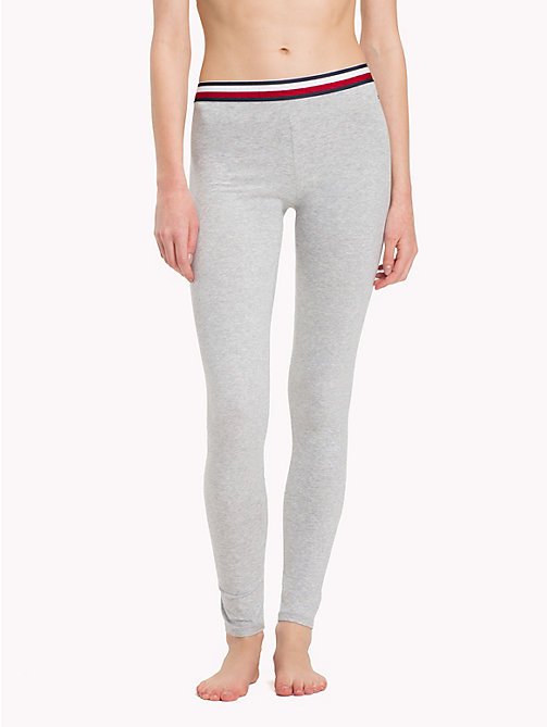 TOMMY HILFIGER Logo Waistband Leggings - GREY HEATHER - TOMMY HILFIGER Bottoms - main image