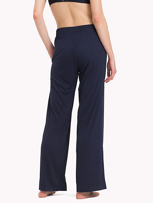 TOMMY HILFIGER Wide-leg Trousers - NAVY BLAZER - TOMMY HILFIGER Bottoms - detail image 1