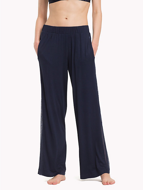 TOMMY HILFIGER Wide-leg Trousers - NAVY BLAZER - TOMMY HILFIGER Sale Women - main image