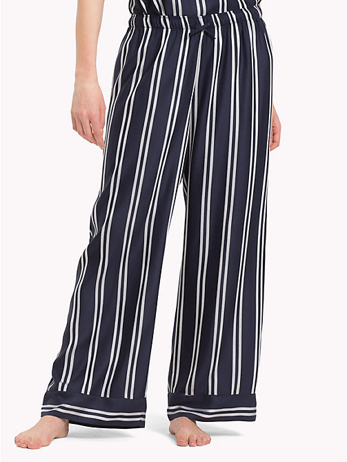 TOMMY HILFIGER Contrast Stripe Trousers - NAVY BLAZER - TOMMY HILFIGER Bottoms - main image