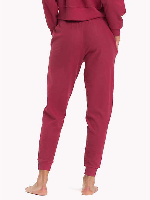 TOMMY HILFIGER Tapered joggingbroek van fleece - EARTH RED - TOMMY HILFIGER Kleding - detail image 1