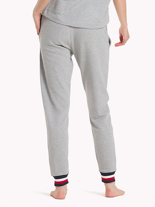 TOMMY HILFIGER Colour-Blocked Logo Cuff Joggers - GREY HEATHER - TOMMY HILFIGER Underwear & Swimwear - detail image 1