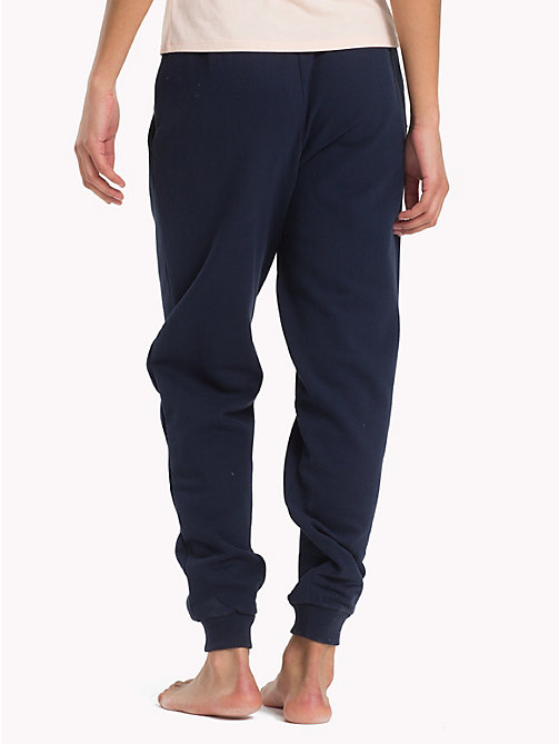 TOMMY HILFIGER Regular Tapered Cuff Joggers - NAVY BLAZER - TOMMY HILFIGER Bottoms - detail image 1