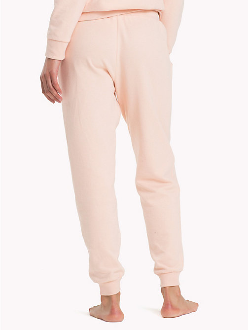 TOMMY HILFIGER Regular Tapered Cuff Joggers - PALE BLUSH - TOMMY HILFIGER Bottoms - detail image 1
