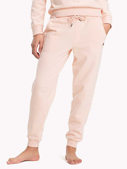 TOMMY HILFIGER Regular Tapered Cuff Joggers - PALE BLUSH - TOMMY HILFIGER Bottoms - main image