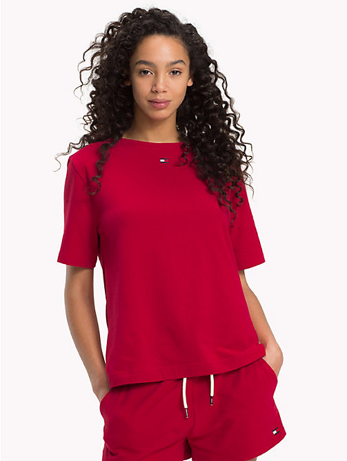 TOMMY HILFIGER T-shirt colour-block - CHILI PEPPER - TOMMY HILFIGER Pyjamas & Lingerie - image principale