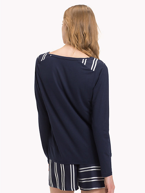 TOMMY HILFIGER V-Neck Long-Sleeve Top - NAVY BLAZER - TOMMY HILFIGER Tops - detail image 1