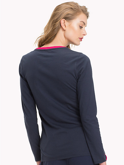 TOMMY HILFIGER Organic Cotton Top - NAVY BLAZER - TOMMY HILFIGER Sustainable Evolution - detail image 1