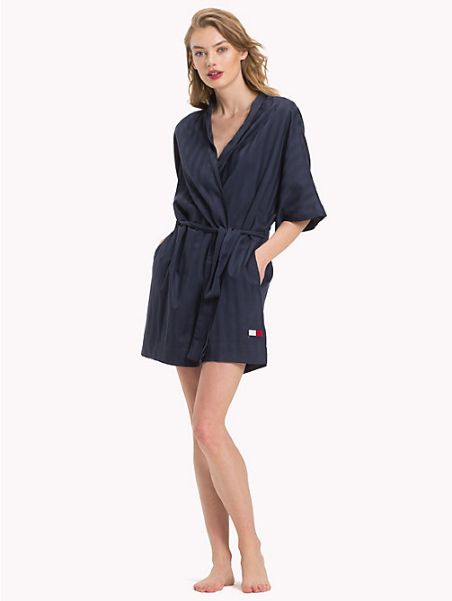 TOMMY HILFIGER Stripe Robe - NAVY BLAZER - TOMMY HILFIGER Night Dresses & Bathrobes - main image