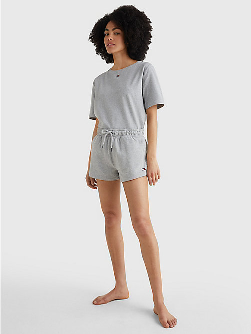 TOMMY HILFIGER Drawstring Jersey Shorts - GREY HEATHER - TOMMY HILFIGER Bottoms - detail image 1