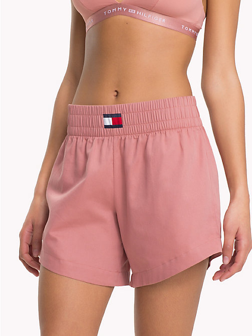 TOMMY HILFIGER Wide Waistband Shorts - ASH ROSE - TOMMY HILFIGER Clothing - main image